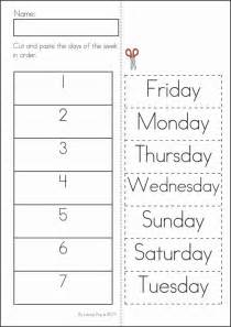worksheet days of the week worksheet kindergarten review