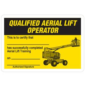 forklift license wallet card template certification cards qualified aerial lift operator