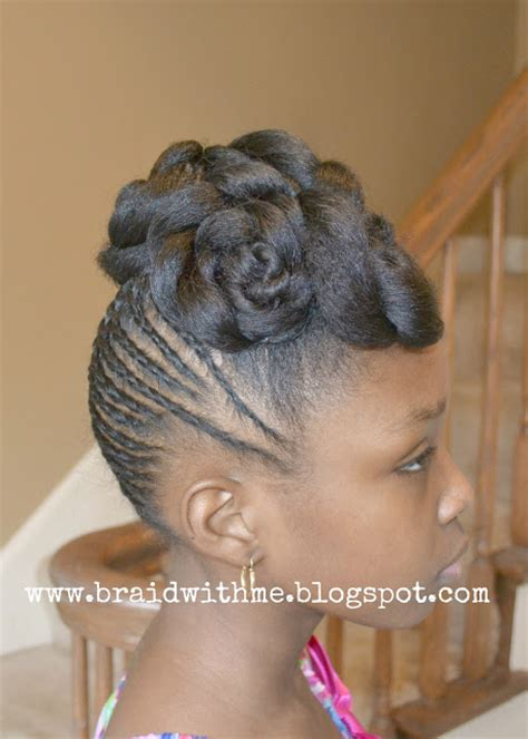 Little Black Girl Easter Hairstyles | easter updo for little girls with natural hair twist