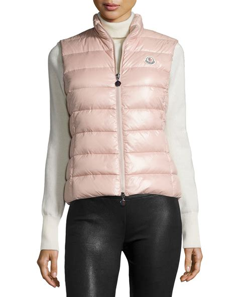 light pink moncler moncler ghany down puffer vest 6 0