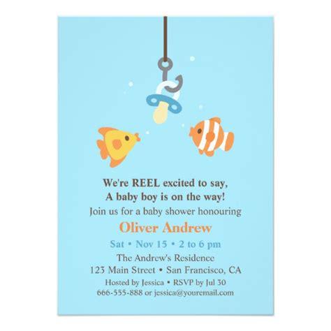 Fishing Baby Shower by Fish Bait Fishing Baby Shower Invitations Zazzle