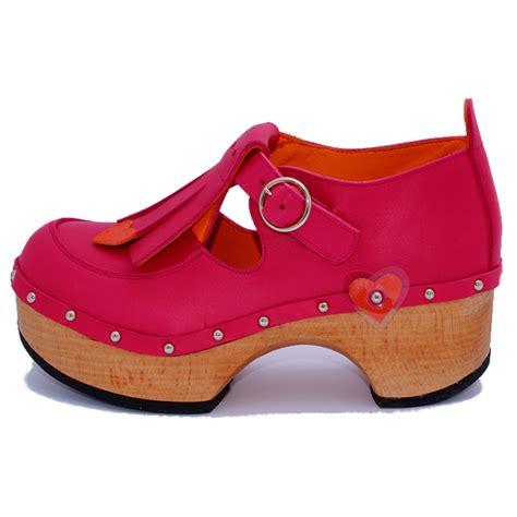 fringe shoe pink and orange jackie clogs