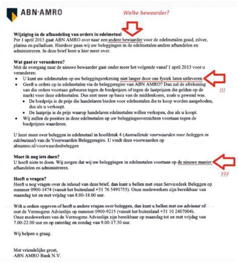 Lettre De Remerciement Neerlandais Analyse Des Mouvements 233 Tranges Du Prix De L Or Goldbroker Fr