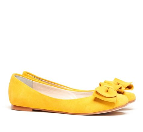 Etro Yellow Bow Flats by Bow Detail Ballet Flat My Style