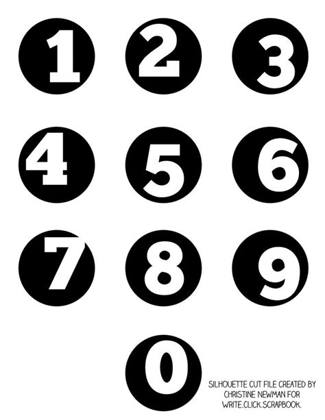 printable numbers on circles pin by emily on paper print cut and supplies pinterest