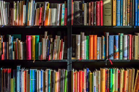 on the book stock photos books in black wooden book shelf 183 free stock photo