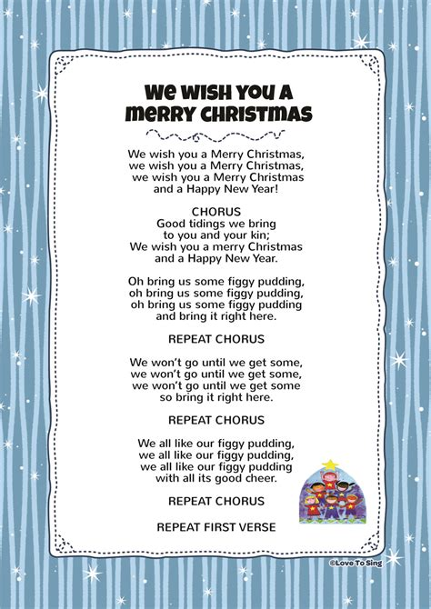 merry christmas kids video song   lyrics activities