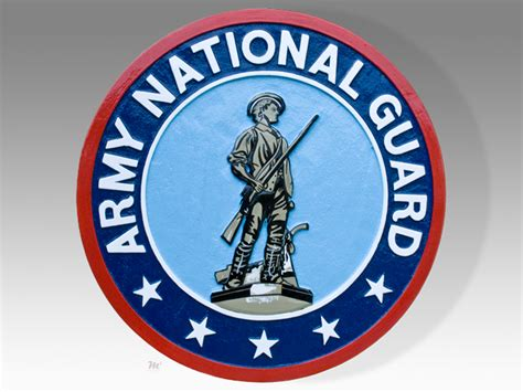army national guard usa plaque or seal tail shields