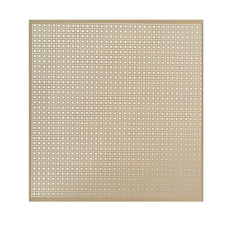 m d building products 36 in x 36 in cloverleaf aluminum