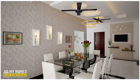 dining kitchen living room interior designs kerala home kerala style dining room designs for homes house interior
