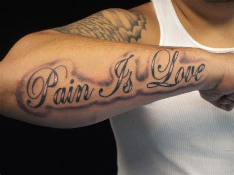 love is pain tattoo designs the gallery for gt is lettering