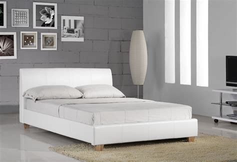 white leather headboard double galaxy white double faux leather bed frame leather beds