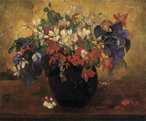 Picture Of Flowers In Vase A Vase Of Flowers By Gauguin Paul