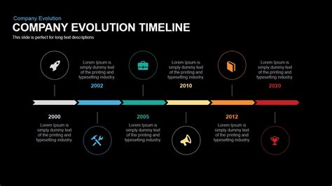 ppt templates free download evolution company evolution timeline powerpoint keynote template