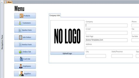 Download Invoice Microsoft Access Templates and Access