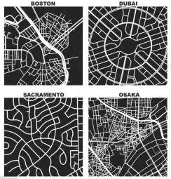 grid pattern of streets square mile maps reveal how different world s cities are