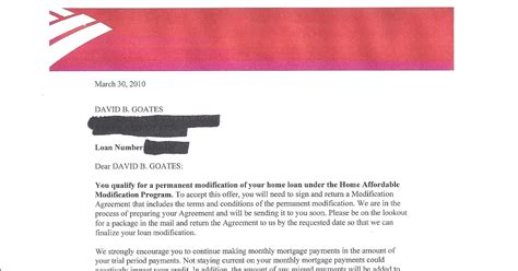 Loan Modification Approval Letter the goates notes why bank of america won t modify your