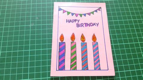 happy birthday cards  friends handmade youtube