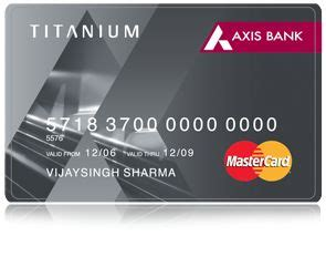 make my trip credit card presenting the axis bank mastercard titanium smart