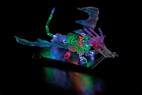 light up bricks laser pegs dragon this looks like but it has one
