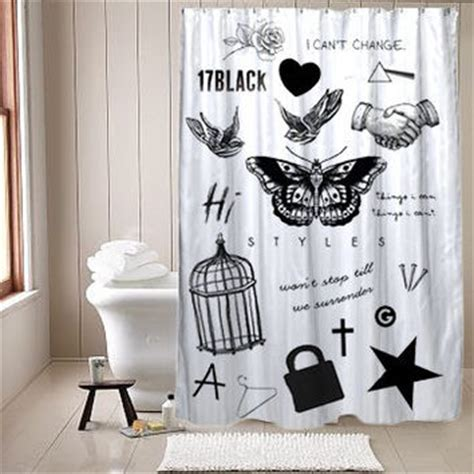One Direction Curtains Tatto Harry Styles One Direction Shower From Namishowercurtain On
