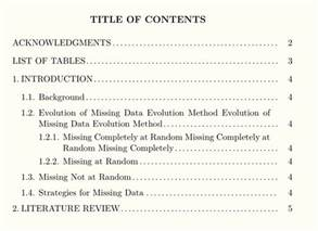 customized table of contents apa style tex stack
