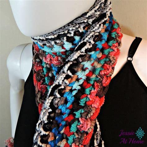 basic boho crochet scarf allfreecrochet