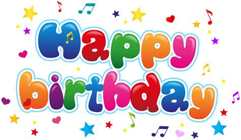 birthday clipart happy birthday png images free