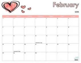 february 2018 calendar with hearts mathmarkstrainones com
