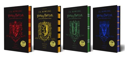 house colors harry potter books hogwarts house themed covers revealed for philosopher s