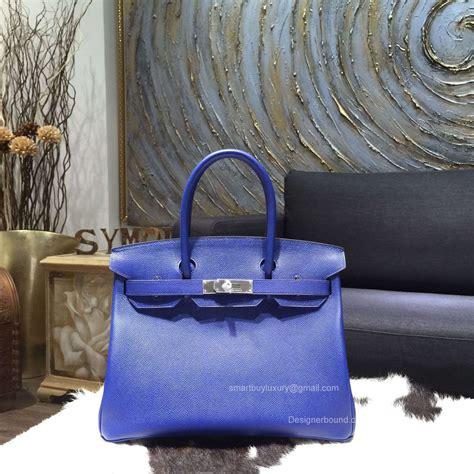 Ready Stock Hermes Birkin Rainbow hermes birkin 30 bag electric blue epsom leather handstitched silver hw