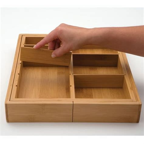 Drawer Organizers Walmart by Seville Classics Bamboo Drawer Organizer Walmart Ca