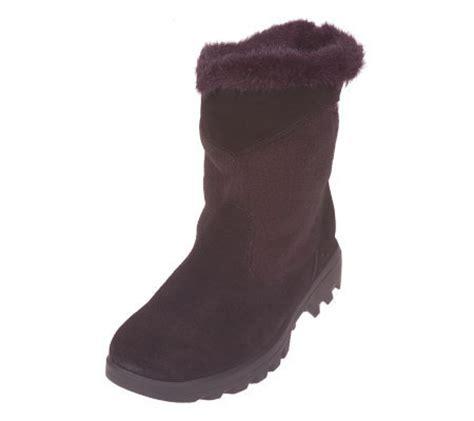 sporto waterproof boots sporto waterproof suede polartec boots qvc