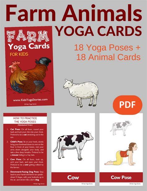 printable animal yoga cards farm animals yoga printable poster kids yoga stories