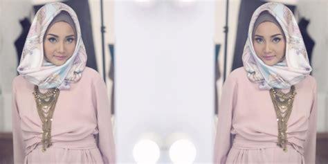 tutorial hijab pesta untuk wajah lonjong tips hijab plus riasan untuk wajah lonjong dan bulat