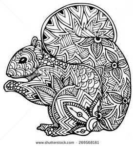 doodle coreldraw zentangle style vector squirrel coloring pages for grown