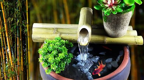 awesome ideas diy bamboo water fountain  home
