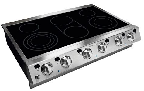 top electric cooktops electrolux e36ec75hss 36 quot electric slide in cooktop