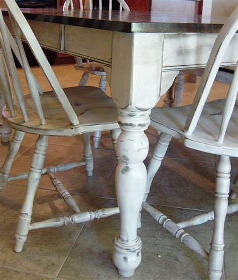 Redo Kitchen Table And Chairs Remodelaholic Kitchen Table Refinished With Distressed Look