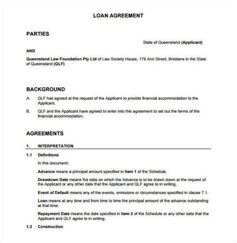 Free Loan Agreement Template Between Friends | Example Good Resume ...