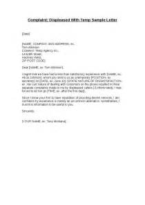 Complaint Letter Template Faulty Goods Complaint Displeased With Temp Sle Letter Hashdoc