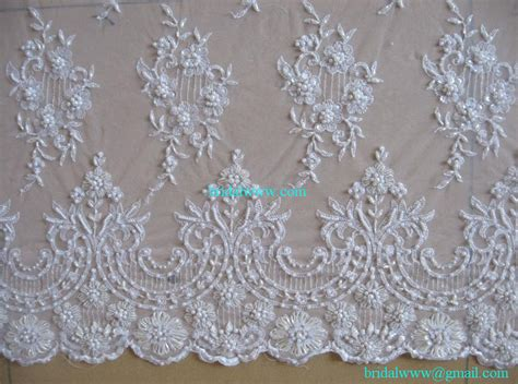 15 yards custom made quality ivory exquisite beaded lace