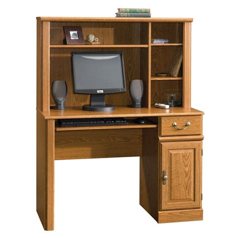 sauder orchard computer desk table w hutch drawer