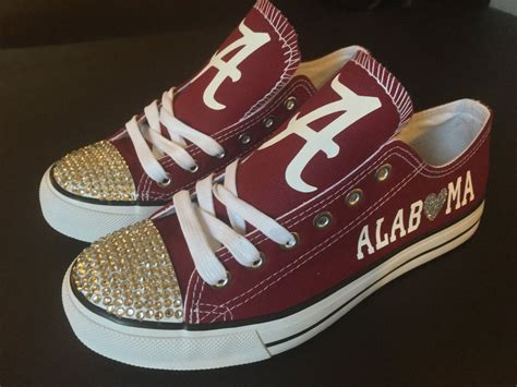 alabama crimson tide sneakers alabama crimson tide bling shoes by shoejourney on etsy