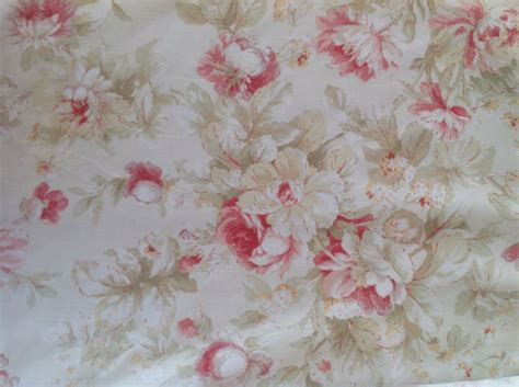 shabby chic upholstery weight fabric half by marymcnultydesign