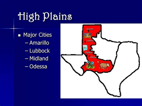 great plains texas map texas regions