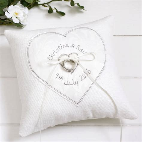 wedding rings pillow personalised wedding ring pillow by milly and pip