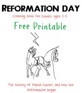 reformation colouring pages