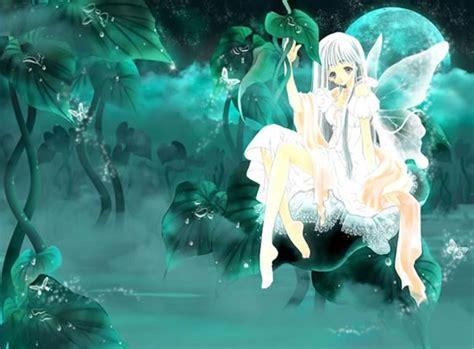 imagenes hadas blancas dibujo de hada blanca en un fondo de plantas verdes imagen