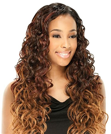 natural free flowing invisible weave sew in full cap wig weave with invisible natural part no